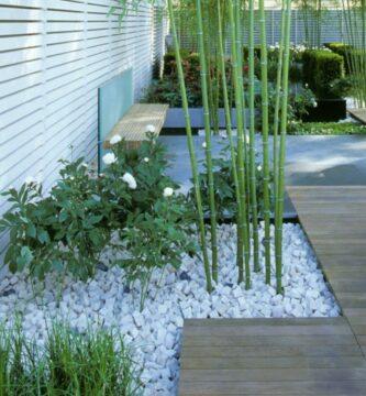 jardines con bambú